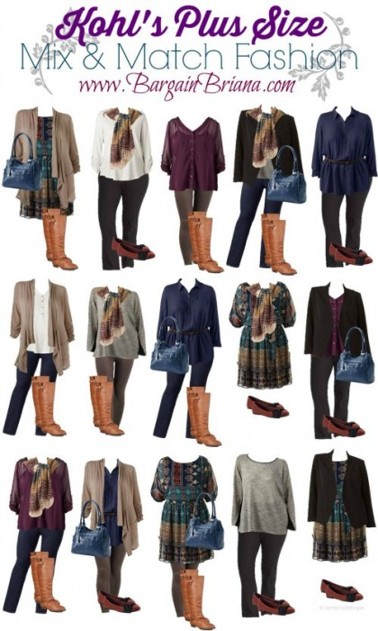 Kohls Plus Size Mix and Match Board