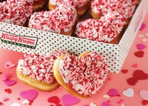 Krispy Kreme: Buy 1 Dozen, Get 1 Dozen Free Donuts Valentine's Day Special