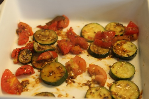 Spray casserole dish with cooking spray. Layer half of zucchini and ...