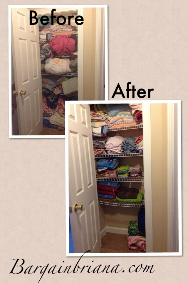 Linen Closet Declutter