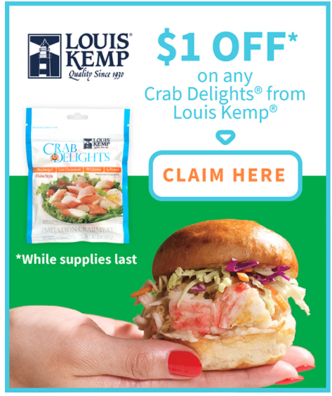 Printable Coupon: Save $1.00 off any Louis Kemp® Crab Delights ...