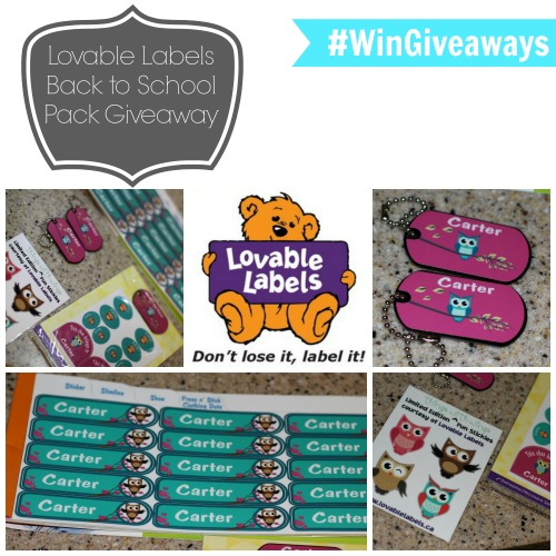 Lovable Labels Back to School Pack Giveaway