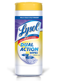Lysol2 Mail in Rebate: Free Lysol Dual Action Wipes (up to $3 Value)
