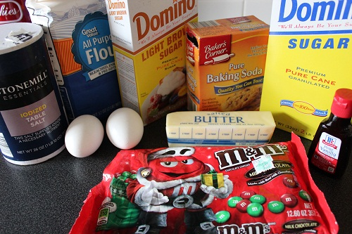 M&M Cookie Ingredients