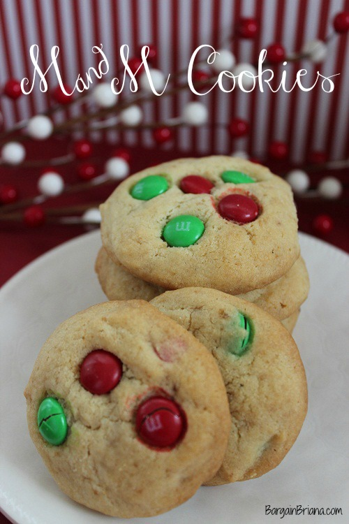 M&M Cookie Recipes for the Holidays