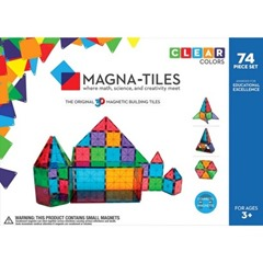 Magna-Tiles Clear Colors 74 Piece Set