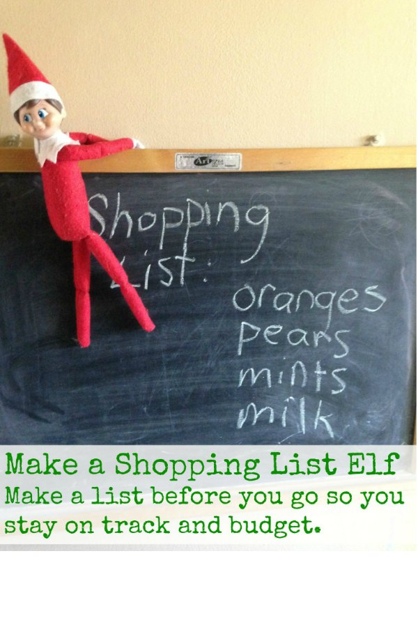 Make a Shopping List Elf via Bargain Briana