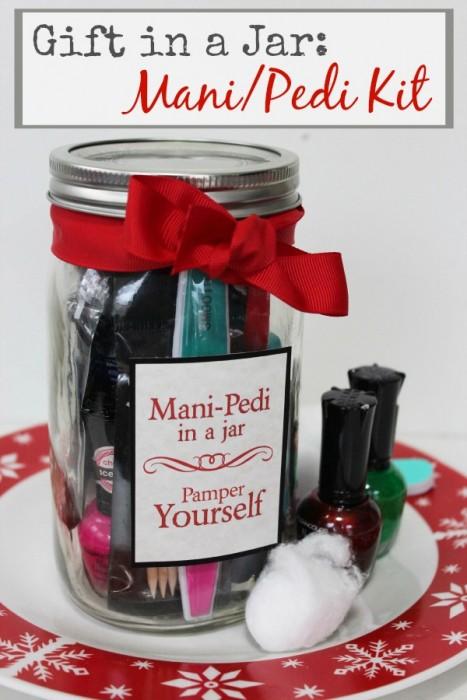 Mani Pedi Kit Gift in a Jar