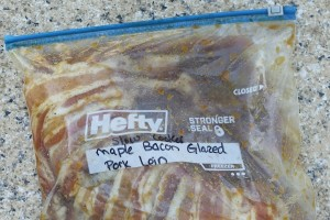 Maple Bacon Pork Loin |Freezer to Slow Cooker Meals