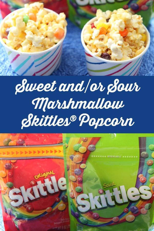 Marshmallow Skittles candy Popcorn