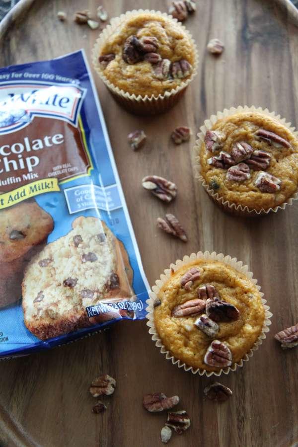 Martha White Chocolate Chip Muffins with Pumpkin