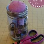 Mason Jar Sewing Kit Gifts in a Jar