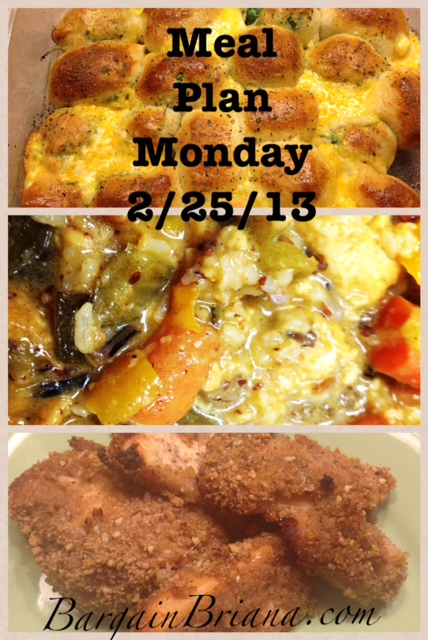 Meal Plan Monday 2 25 2013 Meal Plan Monday 2/25/2013