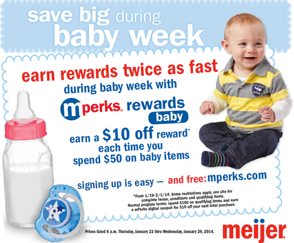 Meijer Baby Week Meijer Baby Week: Spend $50, Get $10 mPerks Rewards + Giveaway