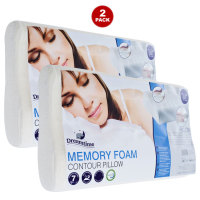 Memory Foam Pillow1 2 Pack Memory Foam Bed Pillows $19.99