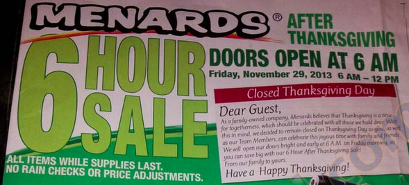 Menards 2013 Menards Black Friday Ad