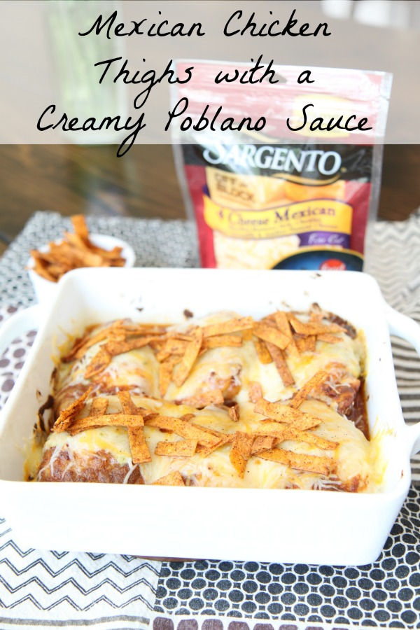 Mexican Chicken Thighs with a Creamy Poblano Sauce Recipe - Chopped at Home Challenge