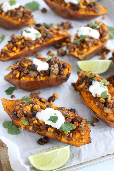 Spicy mexican baked sweet potatoes