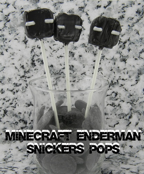 Mindcraft Enderman Snickers Pops via BargainBriana