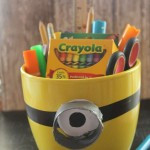 Minion Supply Holder Easy Dollar Store Craft