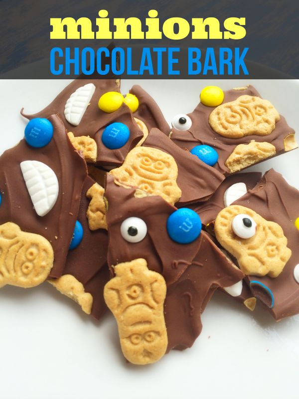Minions Chocolate Bark Recipe - To get in the Minions spirit, we have put together this Minions inspired chocolate bark recipe.This makes a yummy treat that your kids will surely love!