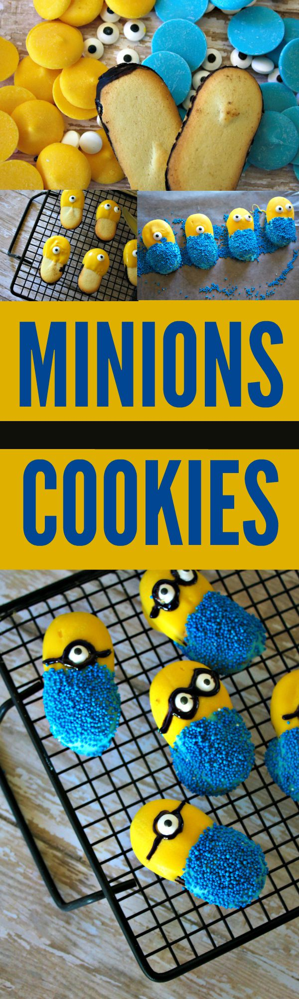 Minions Cookies for Milano Cookies Lovers