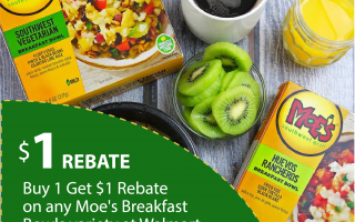 Earn $1 Rebate on Moe's Breakfast Bowls at Walmart