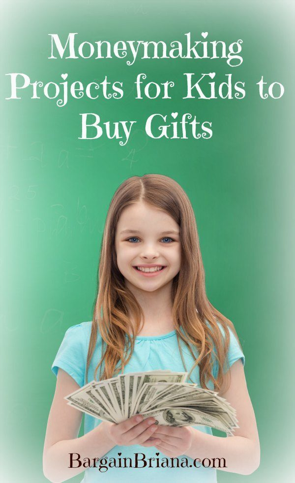 Moneymaking Projects for Kids to Buy Gifts