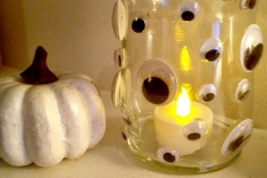Dollar Store DIY: Creepy Monster Eye Candle Holder