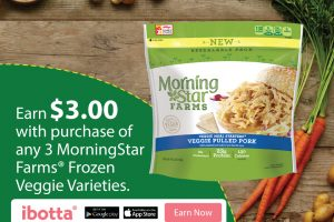 Earn $3.00 When You Buy Any 3 MorningStar Farms®Frozen Veggie at Walmart