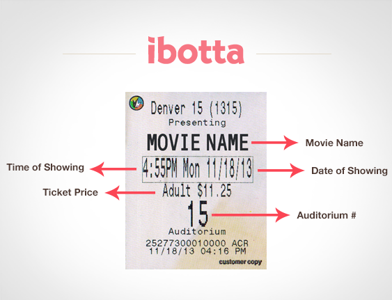Movie Ticket Info Ibotta Now Works at the Movies!