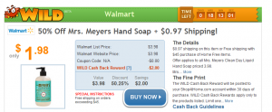 Mrs Meyer Hand Soap 300x124 Mrs. Meyers Hand Soap 50% off + $0.97 Shipping