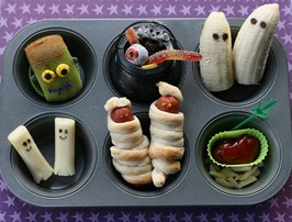 Muffin Tin Inexpensive Halloween Food and Treat Ideas