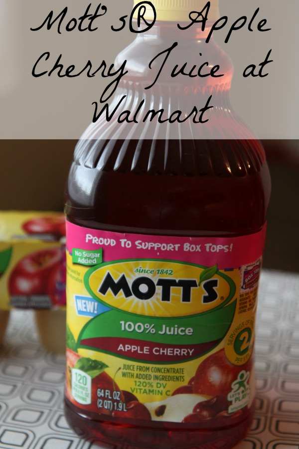 New Motts Apple Cherry Juice at Walmart
