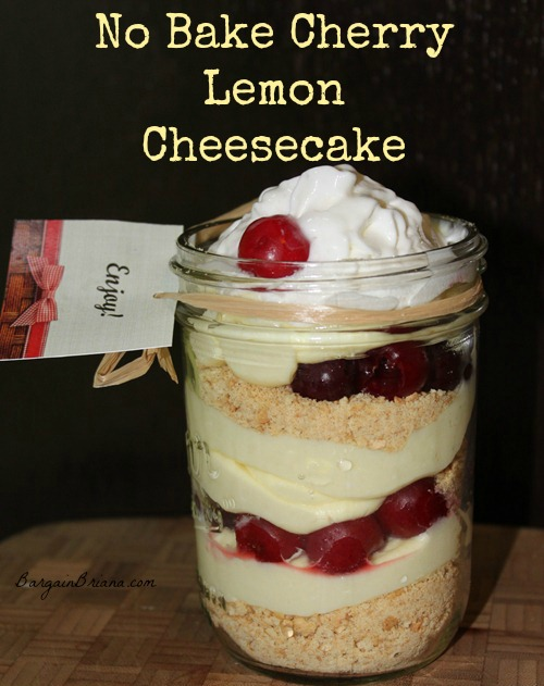 No Bake Cherry Lemon Cheesecake Trifles in a Jar1 Lucky Leaf Summer Giveaway #LuckyLeafLuckyMe