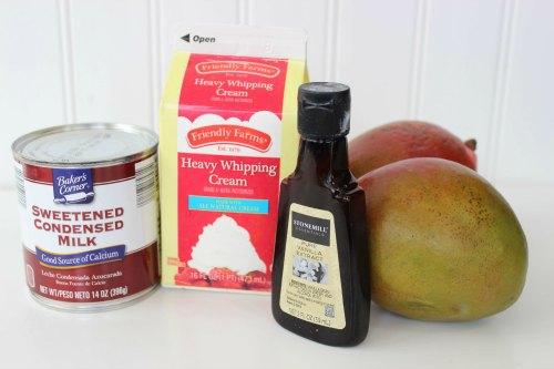 No Churn Mango Swirl Ingredients