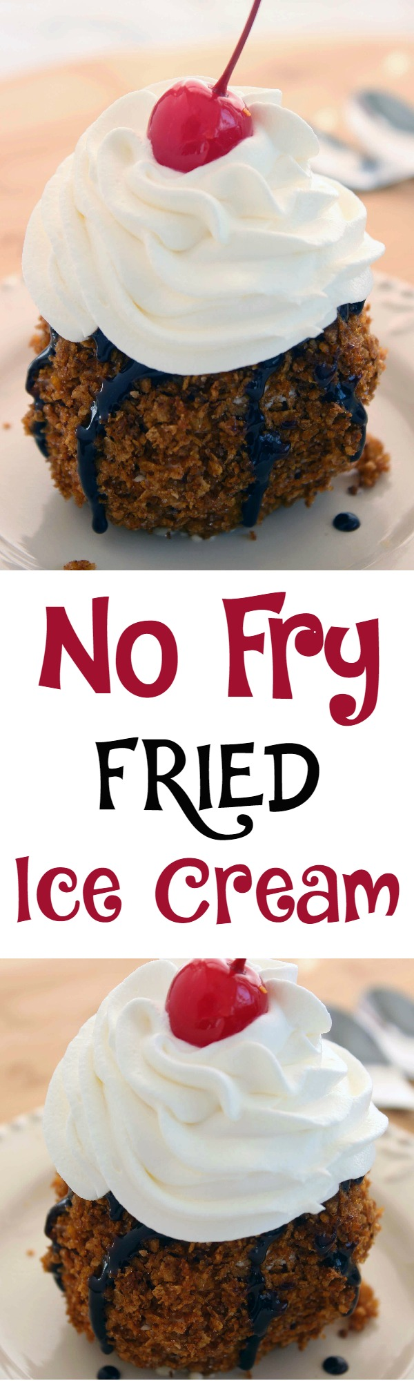 No Fry Fried Ice Cream Dessert