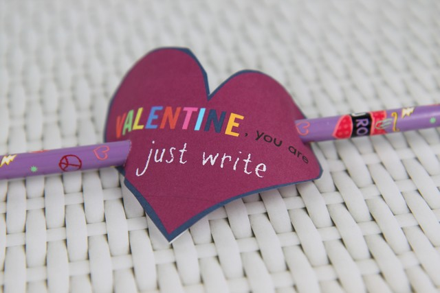 Non Candy Valentine You Are Just Write Idea You are Just Write  Non Candy Valentines Day Idea
