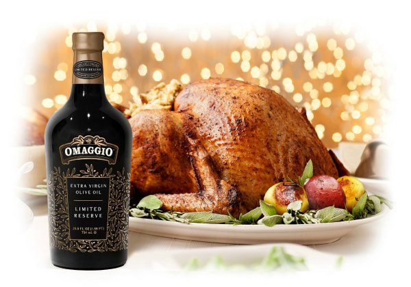 OMAGGIO_Limited-Reserve_Extra-Virgin-Olive-Oil_bottle-and-turkey