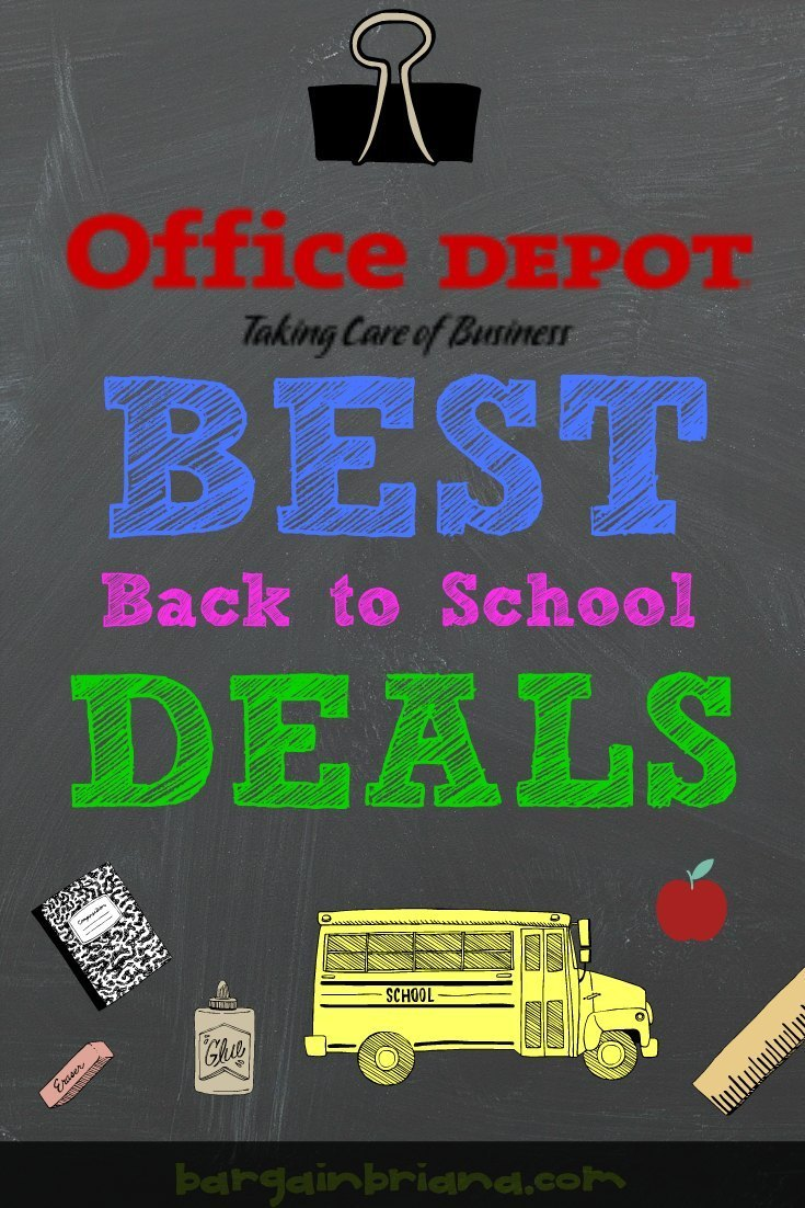 Office Depot Best Back to School Deals