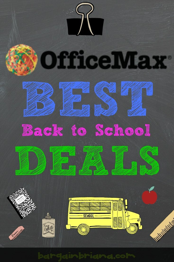 OfficeMax Best Back to School Deals