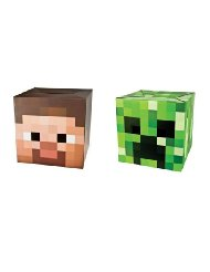 Official Minecraft 12 Steve & Creeper Exclusive Head Costume Mask Set of 2