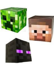 Official Minecraft Exclusive Steve Creeper Enderman Head Costume Mask Set of 3 Minecraft Costume Ideas for Halloween