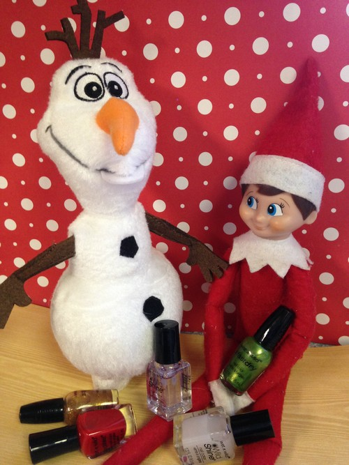 Olaf and Elf on Shelf1