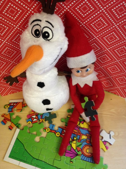 Olaf and Elf on Shelf10