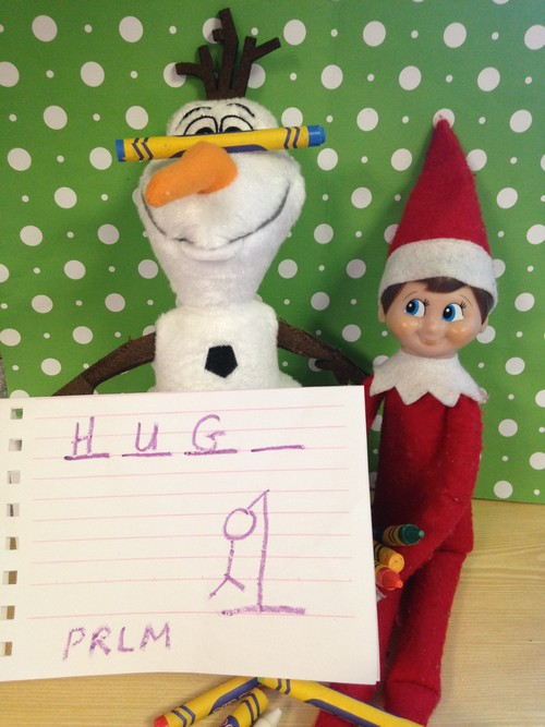 Olaf and Elf on Shelf3
