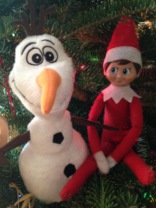 Olaf and Elf on Shelf7