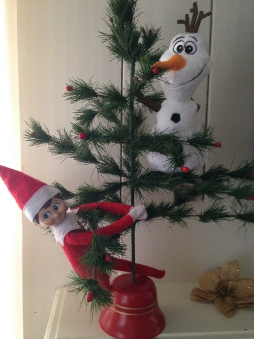 Olaf and Elf on Shelf8