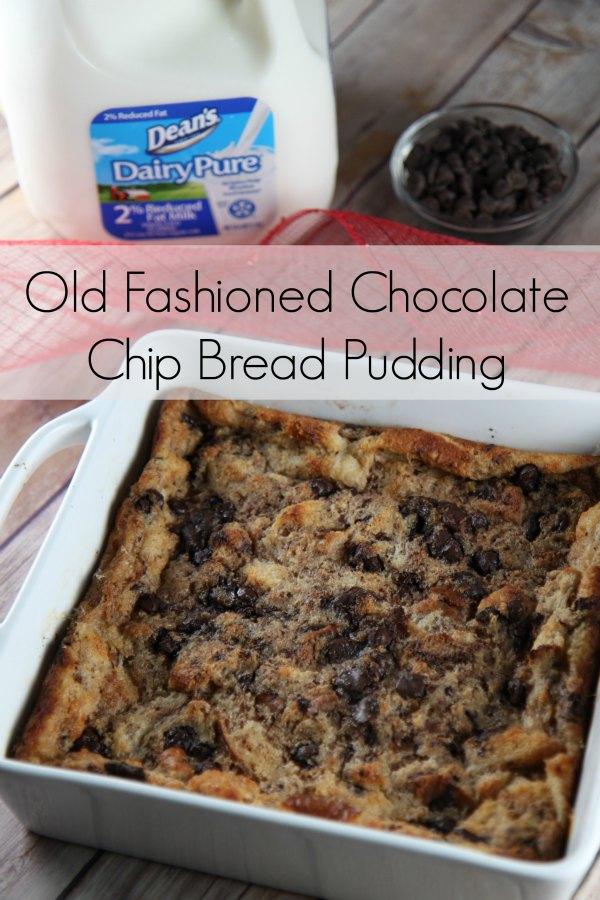 Old Fashioned Chocolate Chip Bread Pudding Recipe