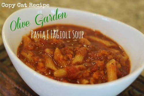 Olive Garden Pasta E Fagioli Soup Slow Cooker Copycat Recipe